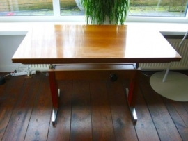 Vintage industrial adjustable desk/dining table