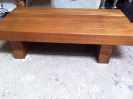 Lage kleine jaren 60 balken tafel/ Small 60`s table SOLD
