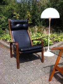 Jaren 60 scandinavische lounge chair / 60`s vintage lounge chair scandinavian