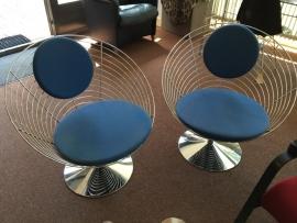 Originele Verner Panton Wire Cone chairs Fritz Hansen 1990