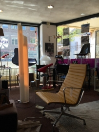 Original Eames EA 116 lounge chair polished