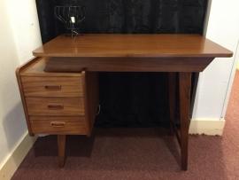 Vintage 1960 teak wooden desk