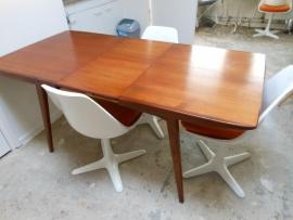Jaren 60 Teak houten tafel louis van Teeffelen Webe/60`s teak wood dining table Webe