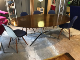 Prachtige Florence Knoll vintage mid-century walnut top conference table