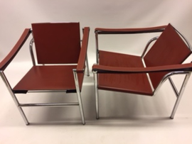 Vintage design Corbusier LC1 easy chairs Cassina