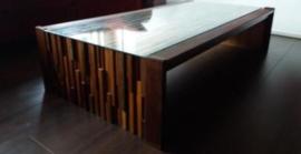 vintage design Percival Lafer Jacaranda brutalist coffee table 1970