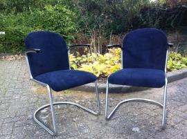 Gispen 413 fauteuil origineel jaren 50/60