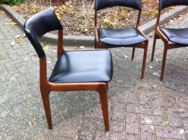 Prachtige teak houten vintage jaren 60 stoelen / Great teak wooden 60`s vintage chairs