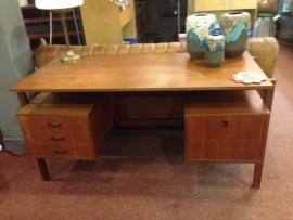 Vintage 1960 teak wooden desk Pastoe