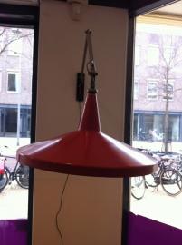 Jaren 50 Panama lamp Wim Rietveld Gispen vintage / Vintage Wim Rietveld Panama lamp for Gispen