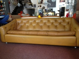 Vintage design Geoffrey Harcourt leather sofa for Artifort 1960