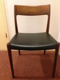 Vintage Niels O Moller teak chairs model 75 and dining table
