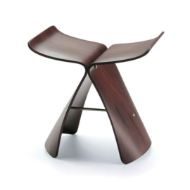 Vintage design Sori Yanagi butterfly stool santos palisanden Vitra