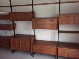Vintage retro large teak wooden Wall unit