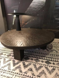 Mid-century Stone brutalist coffee table in style of Ado Chale