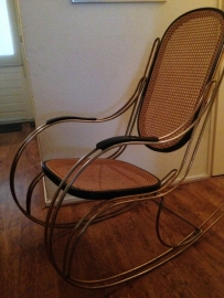 Vintage Thonet (style) rocking chair 1970