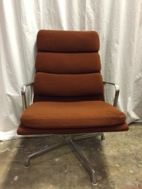 Originele Herman Miller Eames EA 216 softpad lounge chairs