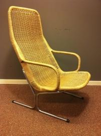 Jaren 60 Dirk van Sliedrecht rotan fauteuil(s) /
