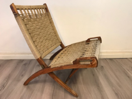 Vintage design Ebert Wels folding rope chair