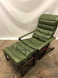 Vintage Ingmar Relling Flex folding (safari) chair plus ottoman