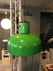 Grote vintage design metalen groene hanglamp jaren 60