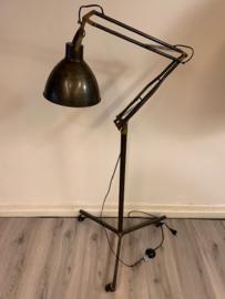 Originele vintage design industriele vloerlamp