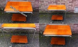Jaren 50 art-deco Gispen tafeltje / 1950 Gispen tea table