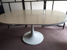 Rare vintage UMS Pastoe dining table tulip foot