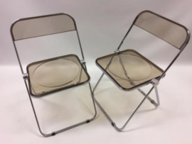 Originele vintage design Plia folding chairs by Piretti for Castelli 2x