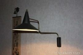 Vintage Anvia jaren 60 J.J. Hoogervorst Elbow wall lamp