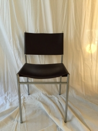 Retro design Martin Visser Spectrum leather dining chairs SE 06
