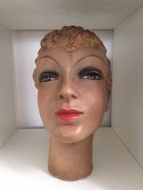 Antique French Mannequin plaster head