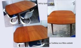 Teak eettafel jaren 60 Louis van Teeffelen Webe, Teak dining table 60`s Louis van Teeffelen for Webe