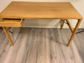 Vintage Danish soaped oak desk/table