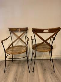 Vintage design Franse Bistro jaren 60 stoelen