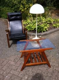 Jaren 60 vintage teak tafeltje Webe / Vintage teak table WeBe