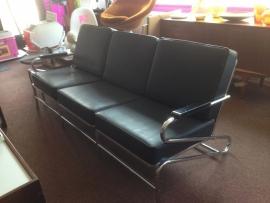 Retro design chromen sofa Lloyd, Kem, Webe