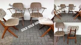 Vintage Louis van Teeffelen Webe chairs 4/6
