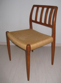 Four Nils Möller model 79 dining chairs papercord seats