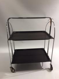 Great vintage Dinett foldable tea trolley 1950/60