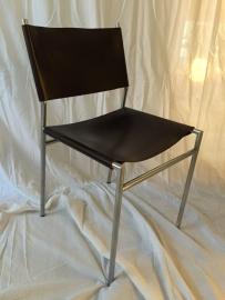 Retro design Martin Visser Spectrum leather dining chairs SE 06