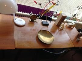 Retro vintage teak wooden dining table Webe 1960
