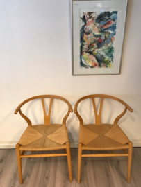 Originele Hans Wegner wishbone chairs beuken