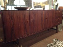 Vintage Mahonie dressoir/sideboard jaren 60