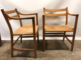 Originele vintage Hans Wegner CH46 & CH47 chairs for Carl Hansen 1979