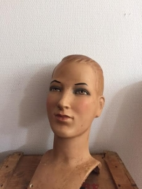 Antique French Mannequin head