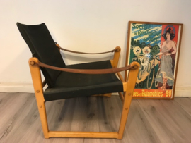 Vintage design Bengt Ruda safari chair Cikada Sweden