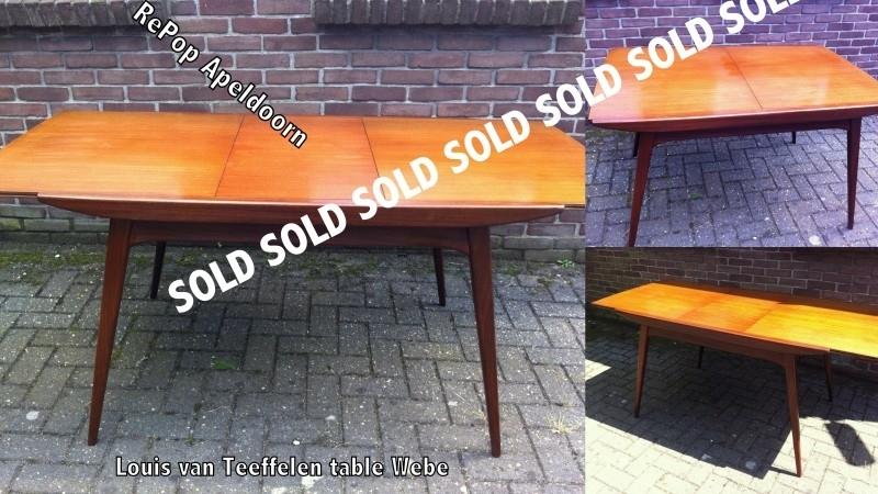 Louis van Teeffelen vintage Webe eettafel / Dining table Louis van Teeffelen Webe