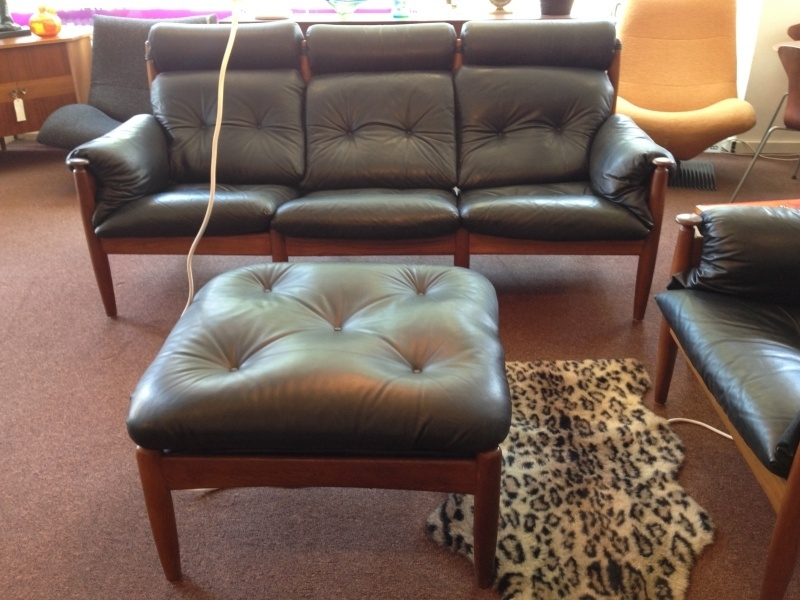 Vintage design Danish sofa three seater in style of Arne Norell