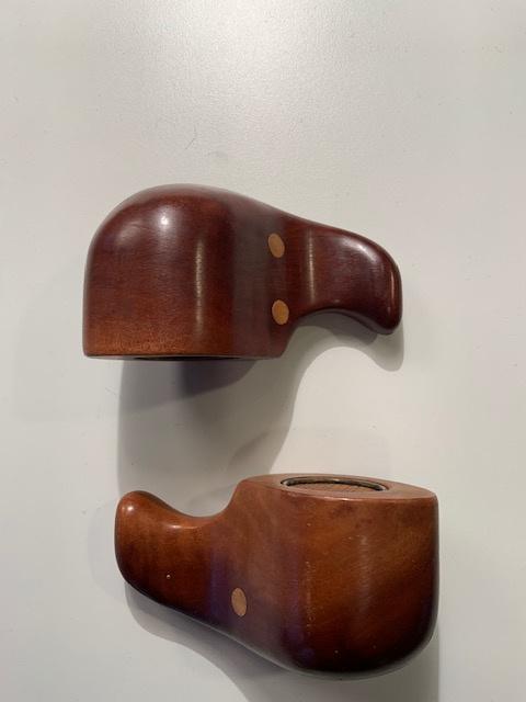Vintage Don Schoemaker teak elephant salt & pepper